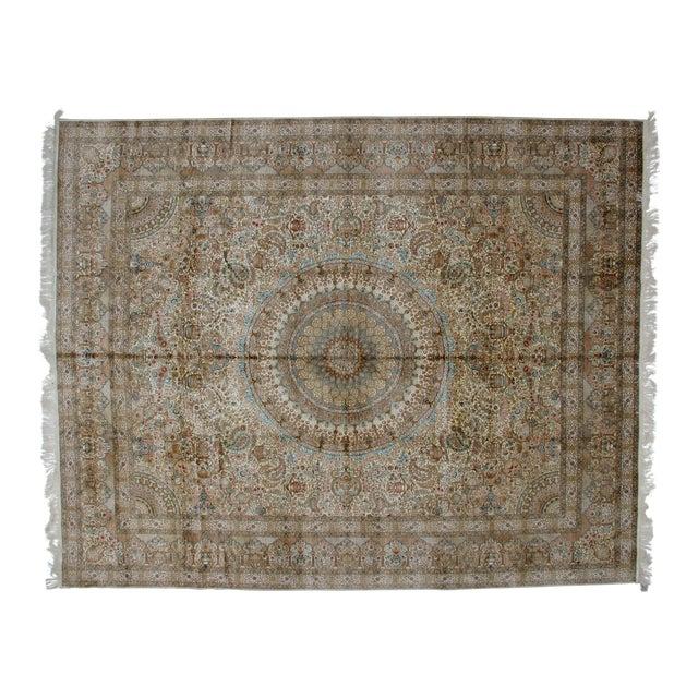 Leon Banilivi Pure Silk Tabriz Carpet - 8' x 10' For Sale