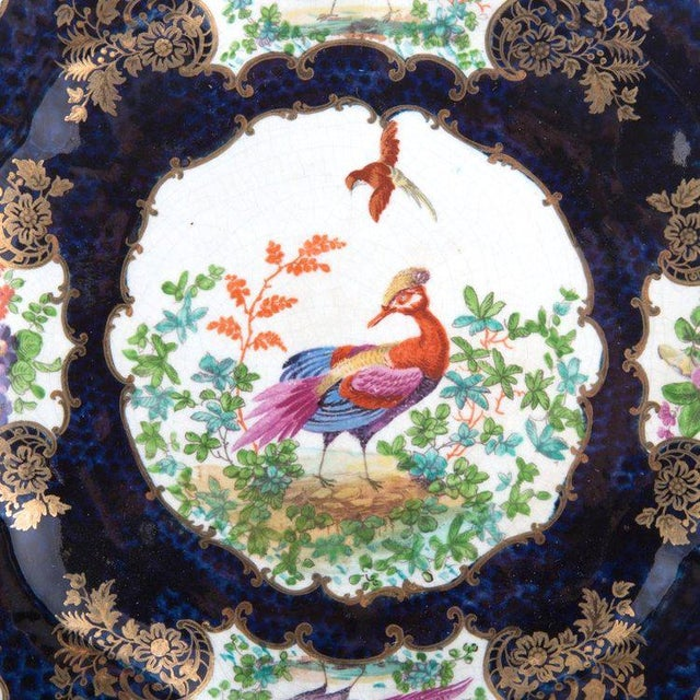 "7-Piece Garniture of English ""Chelsea Bird' Pattern Porcelain For Sale - Image 9 of 11"