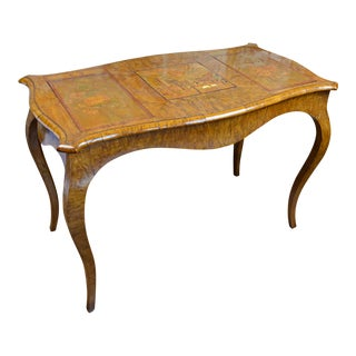 19th Century Italian Inlaid and Burl Wood Vanity For Sale