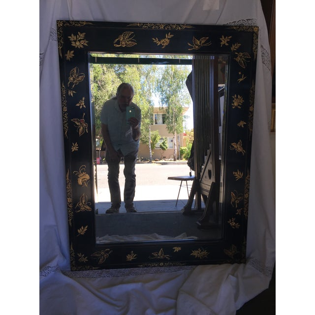 Chinoiserie Wal Mirror Decorated With Butterflies For Sale - Image 13 of 13