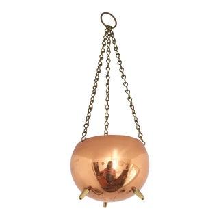 Vintage Copper Hanging Planter