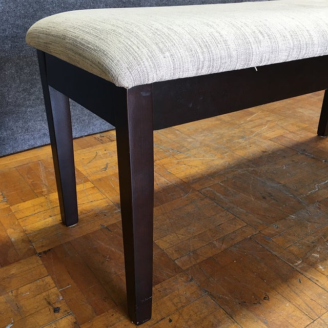 Modern Dining Chairs With Bench - Set of 5 - Image 9 of 11