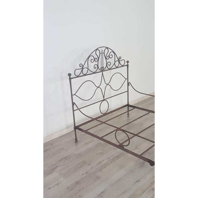 Brown 19th Century Empire Iron Single Bed For Sale - Image 8 of 13