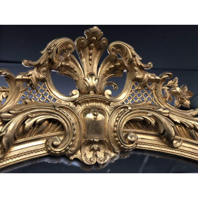 19th Century French Napoleon III Gold Leaf Mirror For Sale - Image 10 of 13