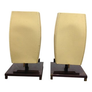 1990s Frederick Cooper Chicago Japanese Style Lamps - a Pair For Sale