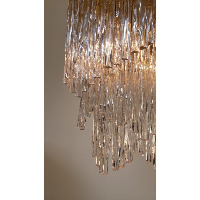 Vintage Mid-Century Murano Glass Chandelier Fixture For Sale - Image 9 of 11