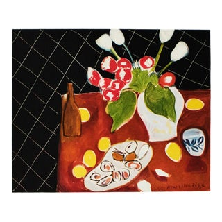 "1946 H. Matisse ""Still Life. Tulips and Oysters"" Original Period Parisian Lithograph For Sale"