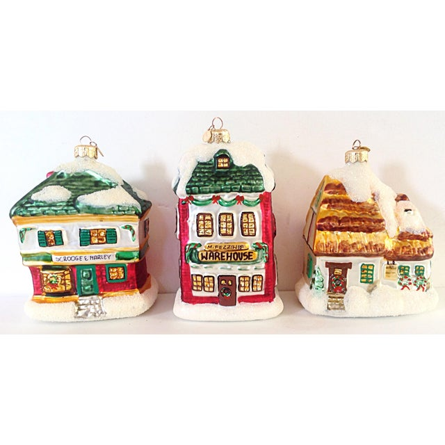 Scrooge Story Cottage Ornaments - Set of 3 - Image 2 of 3