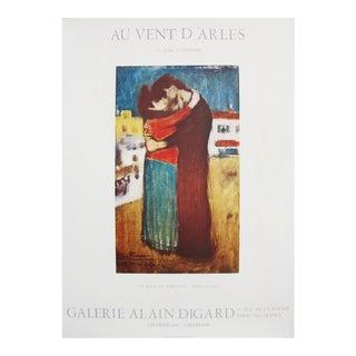 Original Pablo Picasso 1982 Exhibition Poster, Au Vent d'Arles For Sale