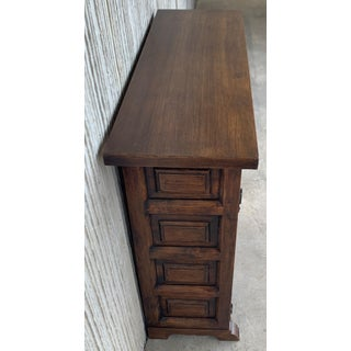 19th Catalan Spanish Carved Walnut Highboy , LIttle Buffet or Console Preview