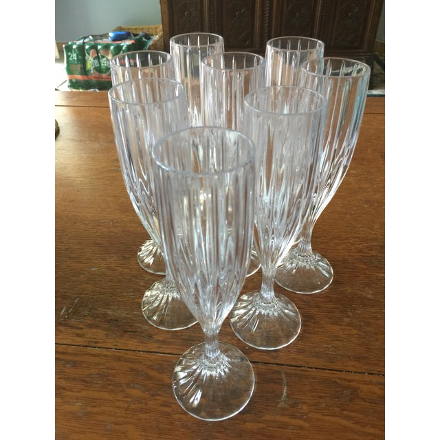 Mikasa Mikasa Champagne Flutes - Set of 8 For Sale - Image 4 of 4