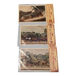 1970s Vintage Stagecoach Art Prints - Set of 3 For Sale