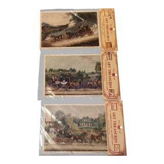 Final Price! 1970s Vintage Stagecoach Art Prints - Set of 3 For Sale