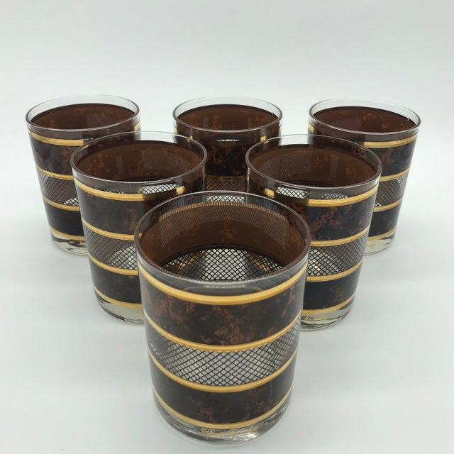 Vintage Georges Briard Old Fashioned Cocktail Glasses Set of 6 For Sale In Philadelphia - Image 6 of 12