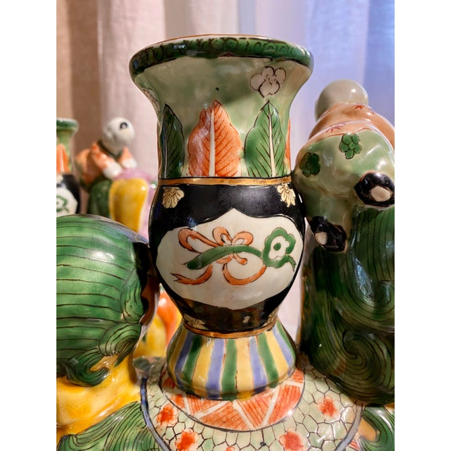 Late 20th Century Chinese Foo Dog Candlesticks - a Pair For Sale - Image 5 of 13