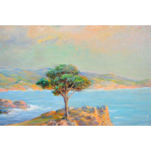 1935 Andreas Roth Carmel Coastline Oil Painting - Image 4 of 9