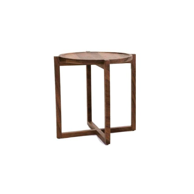 Wood Boton Three Side Table, Conacaste Solid Wood For Sale - Image 7 of 7