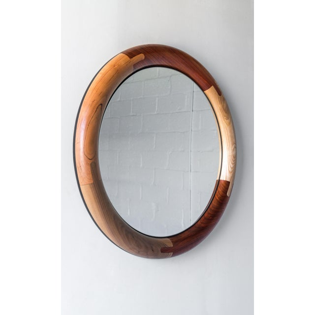Halo Round Birnam Wood Studio Mirror For Sale In Philadelphia - Image 6 of 10