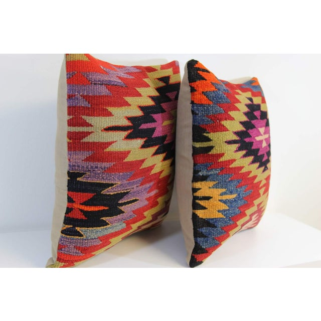 Kilim Pillow Covers - A Pair - Image 5 of 5