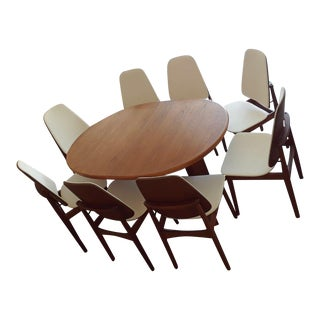 Mid Century Modern Teak Dining Set For Sale