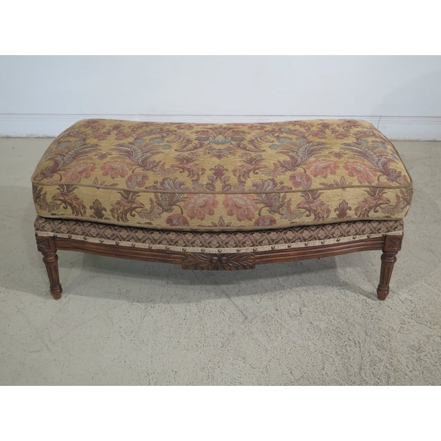 French Louis XV Style Loveseat with Ottoman - A Pair For Sale - Image 10 of 13