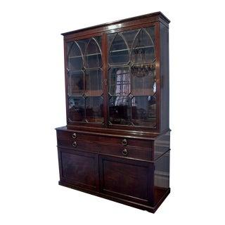 19th Century Georgian Bookcase Cabinet For Sale