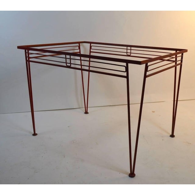 Metal Mid-Century Modern Salterini Patio Garden Dining Table For Sale - Image 7 of 10