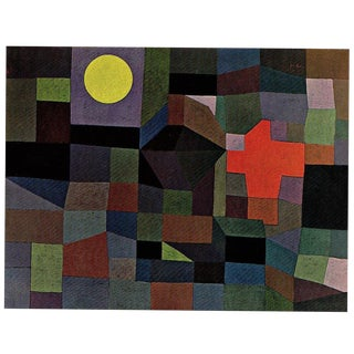 """Paul Klee Vintage 1967 Authentic Abstract Lithograph Print """" Fire at Full Moon """" 1933 For Sale"""
