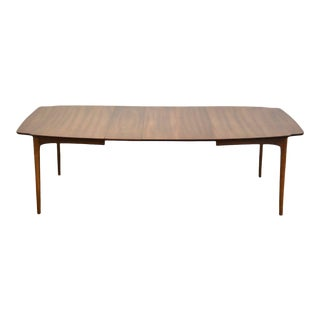 Extendable Walnut Mid Century Modern Dining Table For Sale