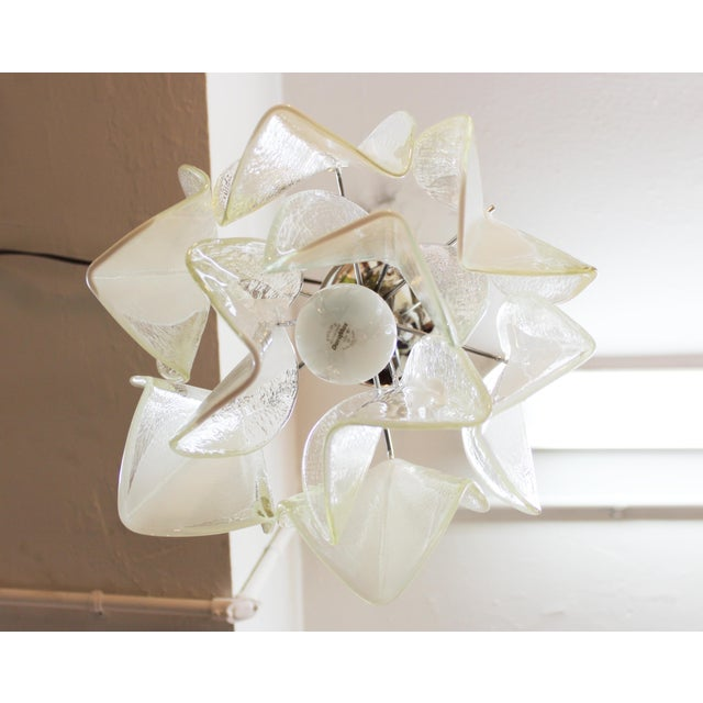 1970s Italian Modern Murano Glass Handkerchief Pendant For Sale - Image 5 of 8