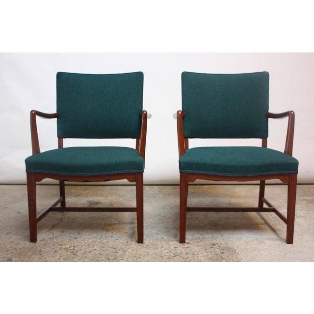 Pair of Danish Modern Teak Armchairs after Kaare Klint - Image 2 of 10