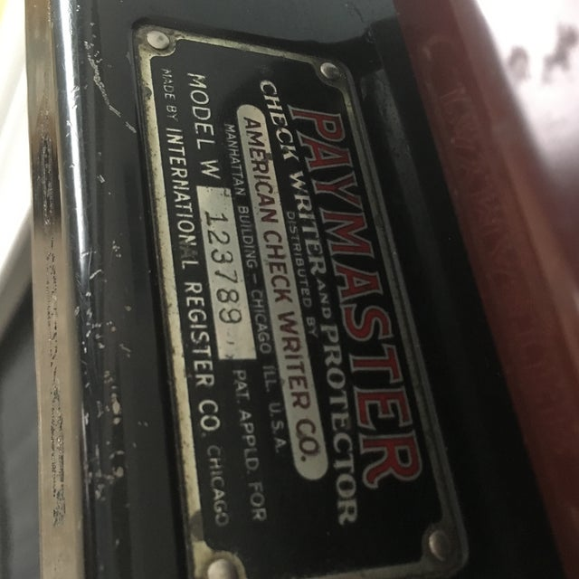1930s Antique Paymaster Office Check Writer - Image 7 of 11