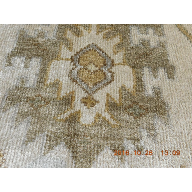 "Bamboo Hand Knotted Bamboo Silk Indo Ushak Rug -7'10""x 10' For Sale - Image 7 of 9"