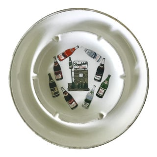 Vintage Brookdale Beverages Ceramic Ashtray