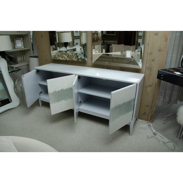 Glass Contemporary Mosaic Glass 4 Door Buffet For Sale - Image 7 of 10