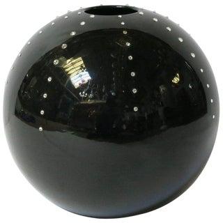 Black Ball Vase With Swarovski For Sale