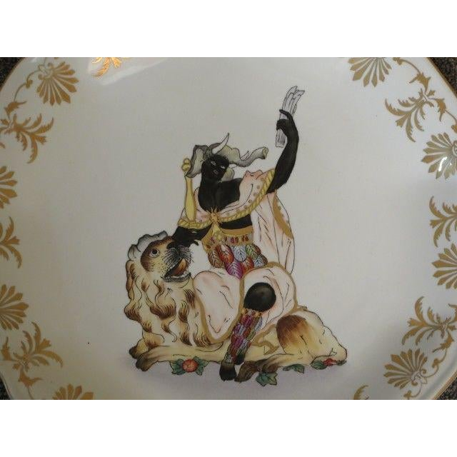 2000 - 2009 Chelsea House Paint Decorated Wall Plates - Set of 4 For Sale - Image 5 of 6
