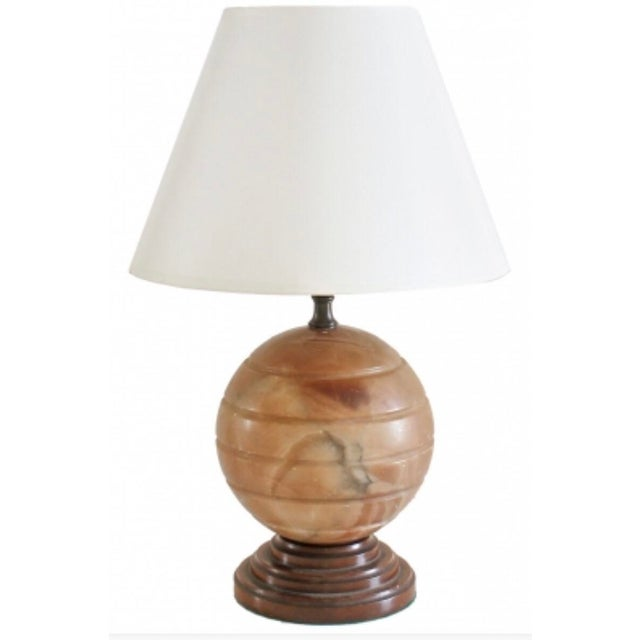 Beautiful dark Agate and bakelite turned table lamp. This is for the base only.