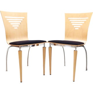 Pair of 1980s Post Modern Italian Side Chairs For Sale