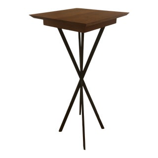 Handmade Wood and Iron High Top Table For Sale