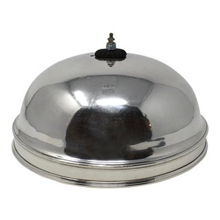 Vintage Hotel Silver Serving Dome For Sale