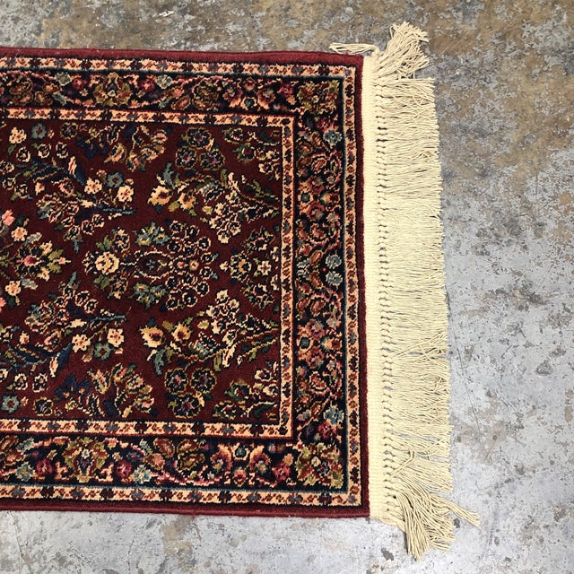 2ft6in × 5ft2in Karastan Red Sarouk Area Rug For Sale In San Francisco - Image 6 of 13