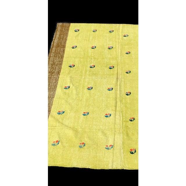 Turkish Kilim Rug Lemon Background- 5′9″ × 8′9″ For Sale In West Palm - Image 6 of 6