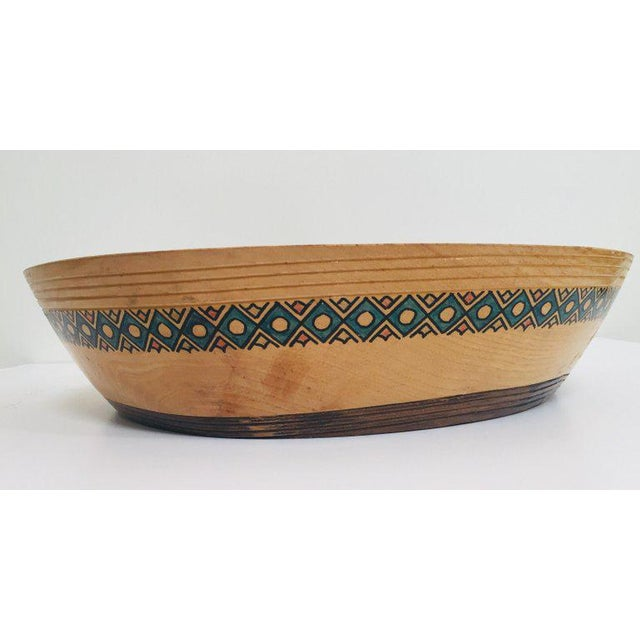 Massive Large Round African Primitive Hand Hewn Wood Dough Bowl For Sale - Image 11 of 13