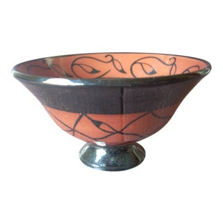 Vintage Asian Inspired Footed Bowl For Sale