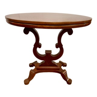 Mahogany Oval Top Pedestal Breakfast Table For Sale