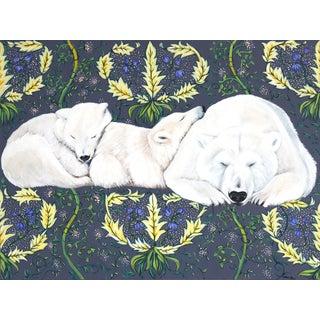 """Polar Bear Family"" Original Artwork by Naomi Jones For Sale"