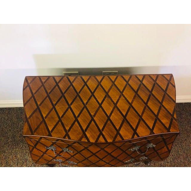 Art Nouveau Vintage Trouvailles Bombe Style Dresser For Sale - Image 3 of 11