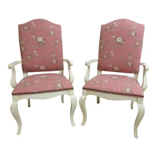 Ethan Allen Country French Dining Chairs - A Pair For Sale