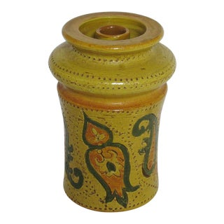 Mid Century Bitossi Vase Candle Holder For Sale